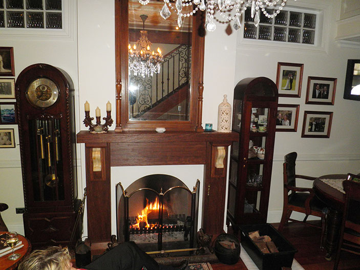 Balmain fireplace after